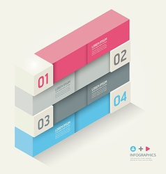 Modern isometric Design template vector image