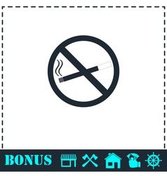 No smoking icon flat vector image