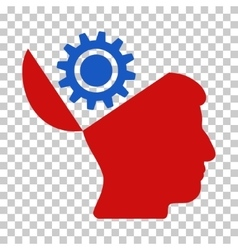 Open head gear icon vector