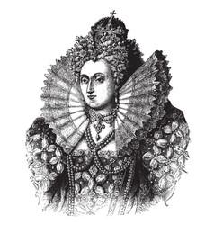 Queen elizabeth i of england vintage vector