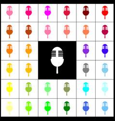 Retro microphone sign felt-pen 33 vector
