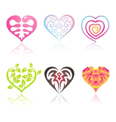 set of icons hearts vector image vector image