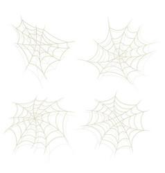 spider web set vector image