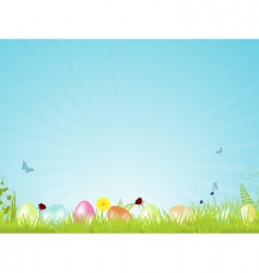Tranquil easter background vector