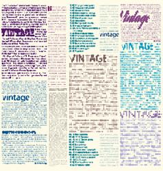 Vintage newspaper pattern vector
