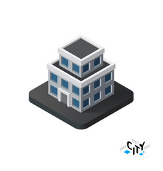 Isometric apartment house icon building city vector