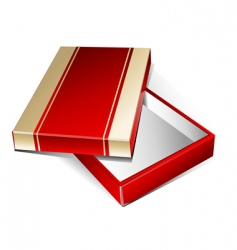Gold red box vector