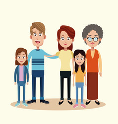 Family with grandmother image vector