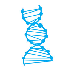 Dna icon on white background dna sign vector