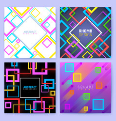 Abstract geometric backgrounds with color vector