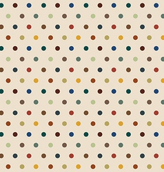 Stylish polka dots seamless background vector