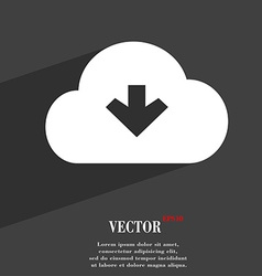 Download from cloud icon symbol flat modern web vector