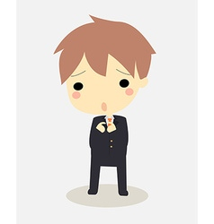 Guilty businessman vector
