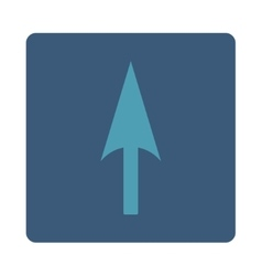 Arrow axis y flat cyan and blue colors rounded vector