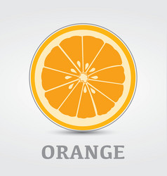 Orange slice logo design vector