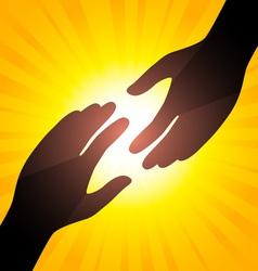 solar handshake vector image