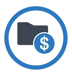 Money folder icon vector