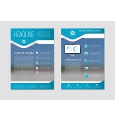 Flyer brochure template with blurred background vector