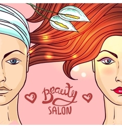 Beauty salon makeup vector