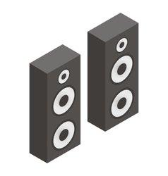 Musical speakers isometric 3d icon vector