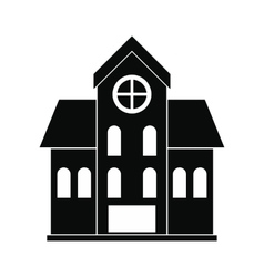House with a mansard black simple icon vector
