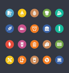 Glyphs colored icons 21 vector