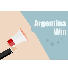 Argentina win flat design business vector
