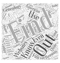 African american genealogy word cloud concept vector