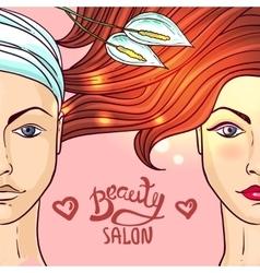 beauty salon makeup vector image vector image