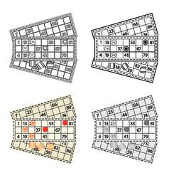 bingo icon in cartoon style isolated on white vector image