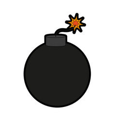 bomb weapon icon image vector image