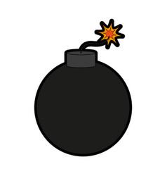 Bomb weapon icon image vector