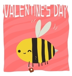 cartoon Happy valentine s day vector image vector image
