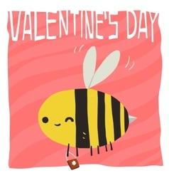 cartoon Happy valentine s day vector image