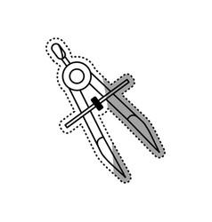 Compass geometric utensil vector