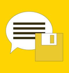 Flat text message icon speech bubble symbol vector