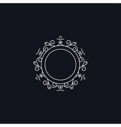 Floral circle frame vector image