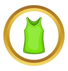 Green mens t-shirt icon vector