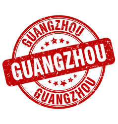 Guangzhou red grunge round vintage rubber stamp vector