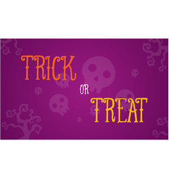Halloween trick or treat card vector