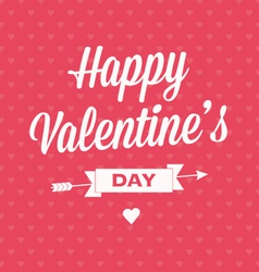 Happy valentines day card with ribbons vector