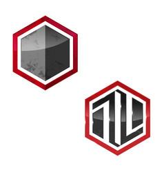 hexagon logo concept template vector image vector image