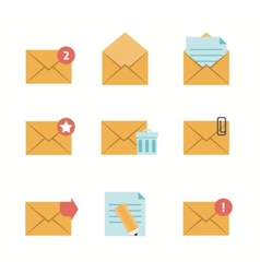 Message Icons Flat vector image vector image