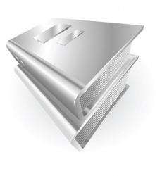 metallic books vector image vector image