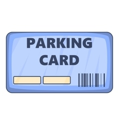 Parking payment card icon cartoon style vector