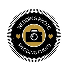Photographer icon logo vector image vector image