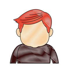 portrait man people senior cartoon image vector image