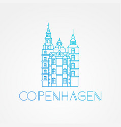 rosenborg castle the symbol of copenhagen vector image