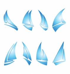 sailboat icons vector image vector image
