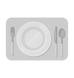 Served table icon in monochrome style isolated on vector